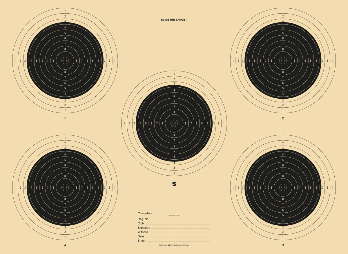 Printed Targets Competition Class | Gowans & Son