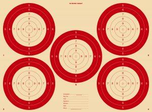 90metre Rifle Target 510x373mm