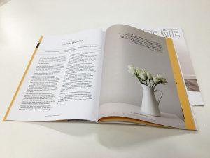Saddle stitched magazine