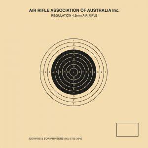 Single Air Rifle Target 100x100
