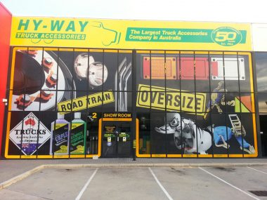 One way vision window graphics