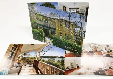 A4 landscape real estate brochures
