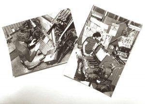 Linotype, hot metal casting machine, and Heidelberg KORA