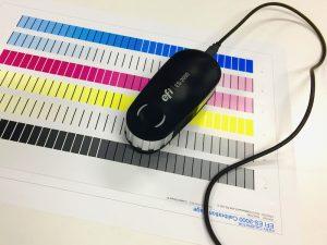 Spectrophotometers read colour