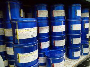 Shelves of premium biodegradable printing inks