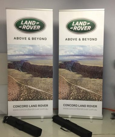 Pull-up or roll-up banners