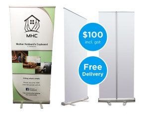 Easy to use pull up banners.