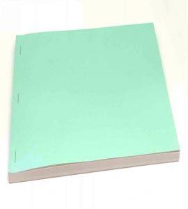 A side stitch bound book.