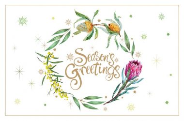 Floral Greetings Code: AU882, Gold Foil
