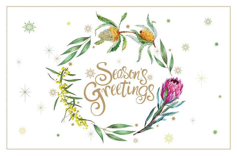 Floral Greetings Code: AU882, Gold Foil