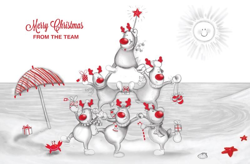 Reindeer Christmas Code: FE800, Red Foil