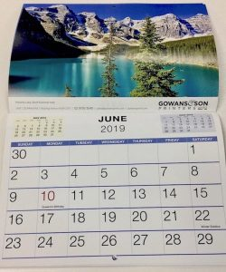 Custom printed promotional calendars Chipping Norton