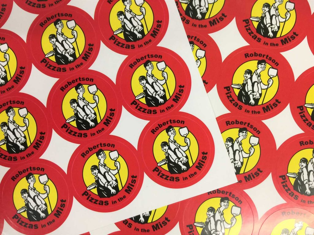 45mm diameter stickers from Gowans & Son, Chipping Norton NSW