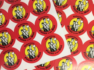 Pizza Restaurant stickers and labels