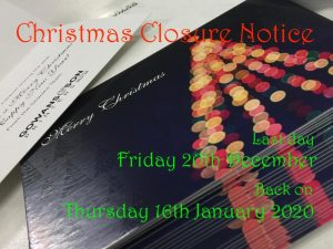 Gowans & Son Christmas 2019 close down