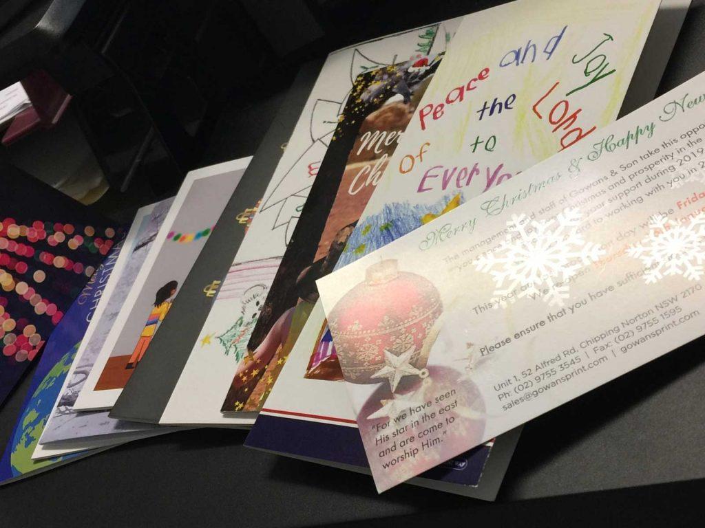 Custom printing for Christmas Cards