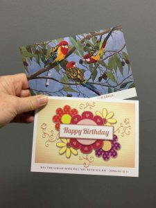 Custom greeting cards proudly printed in Chipping Norton Liverpool Sydney NSW, nation wide delivery
