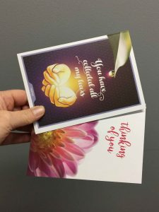 Custom greeting cards proudly printed in Chipping Norton Sydney NSW, nation wide delivery