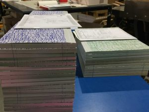 Quarter Bound Books wating to be trimmed