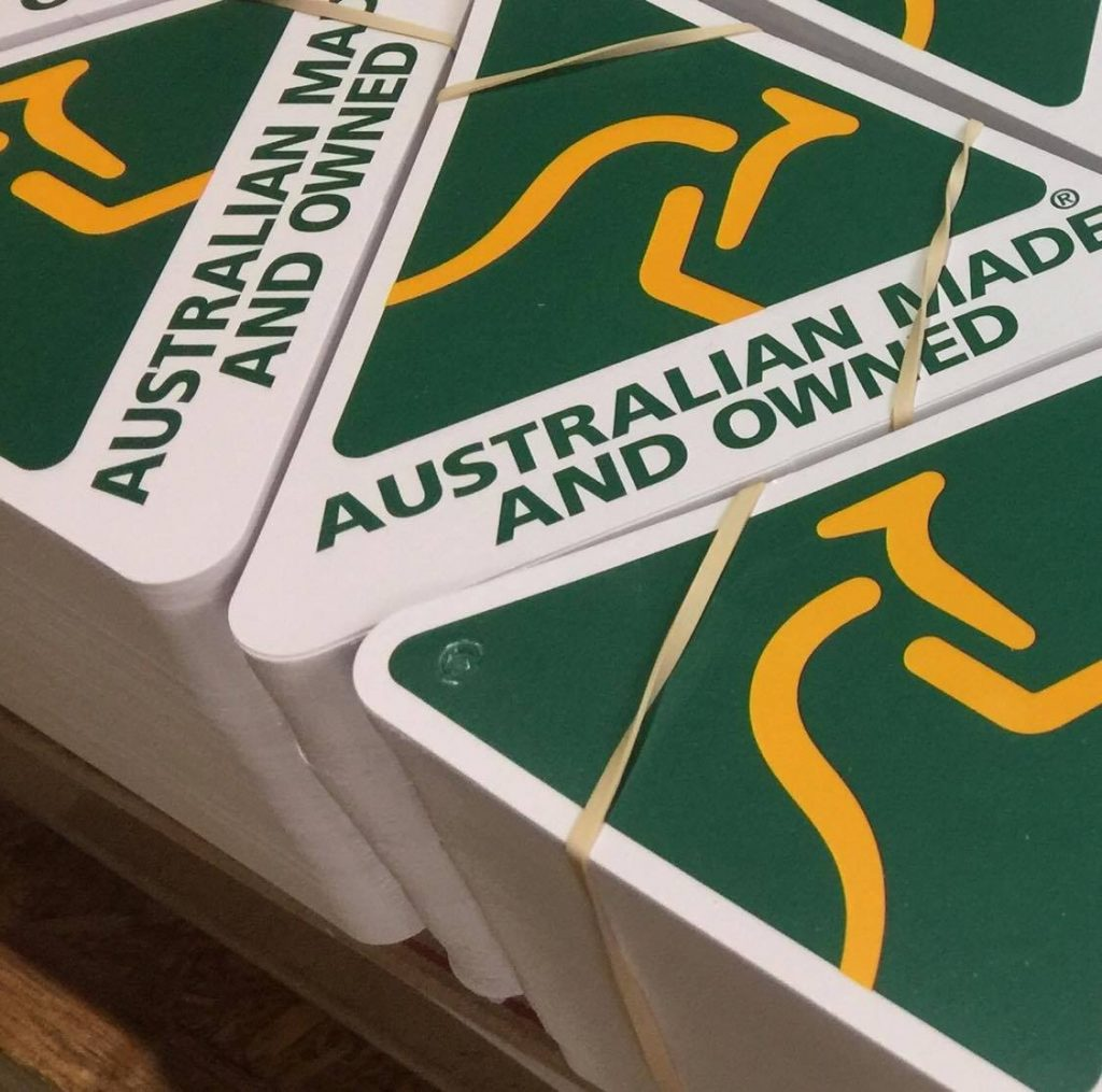 Printed and diecut tags proudly printed in Chipping Norton Sydney Australia