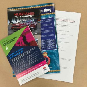 Back covers of magazines printed in Chipping Norton Sydney