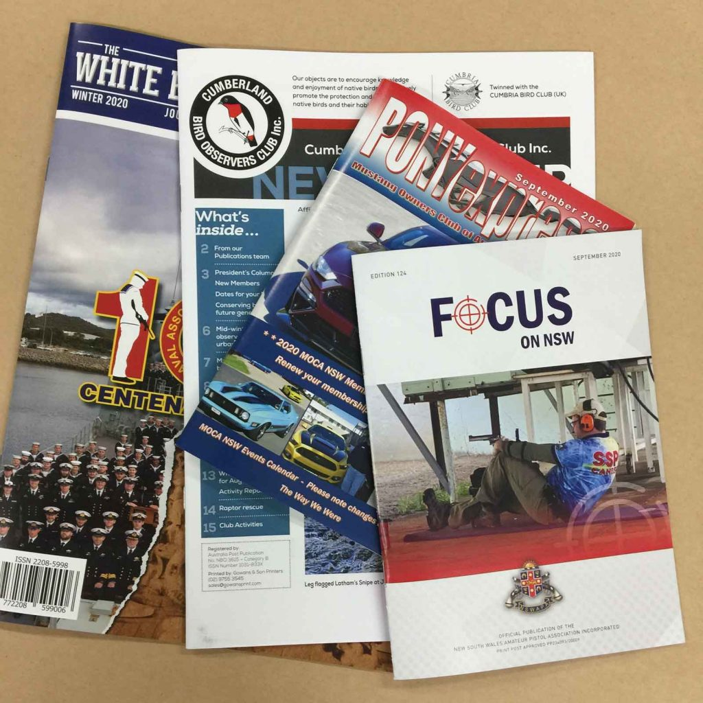 Front covers of magazines printed in Chipping Norton Sydney