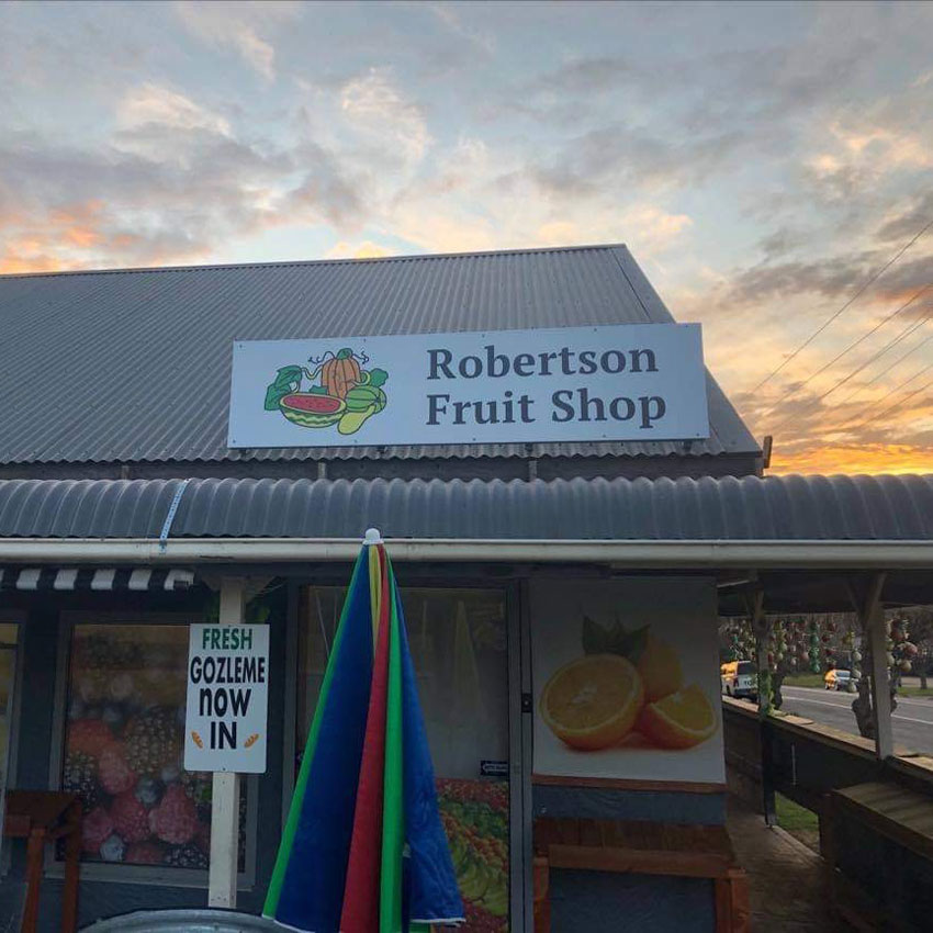 2400 x 600mm Alupanel sign for Robertson Fruit shop made in Liverpool NSW