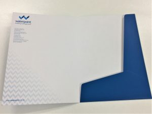 Custom printed and die cut presentation folders in Liverpool NSW