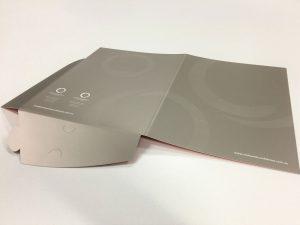 Die cut presentation folder custom printed in Liverpool NSW