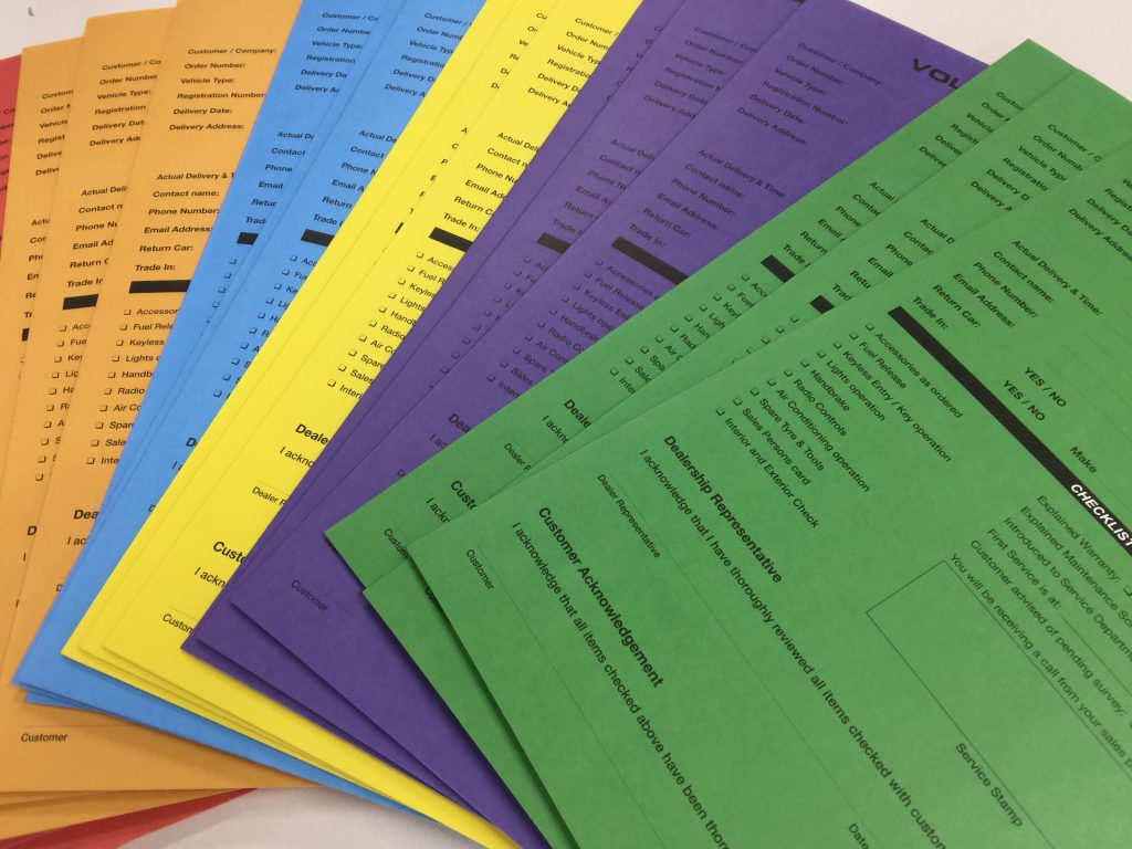 Follow up checklist manilla folders custom printed with fold in pockets and tabs