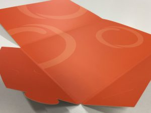 Custom printed and cut presentation folder in chipping Norton NSW. Sydney wide delivery