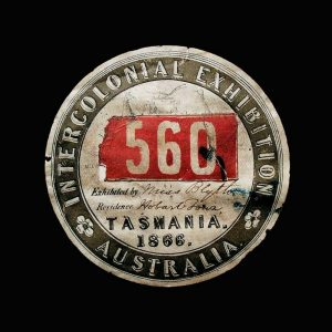 Eliza Blyth Label Intercolonial Exhibition Tasmania Australia 1866