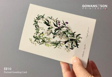 Ready to sell botanical greeting card for florists, garden centres and gift shops