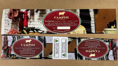 Food labels and pacakaging for butchers, bakers, grocery, fruit shops